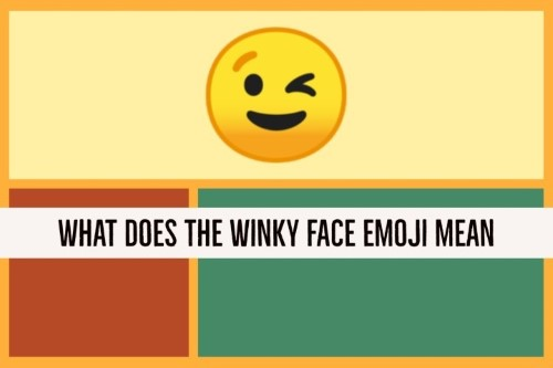 What does the winky face emoji mean on whatsapp? | Emoji